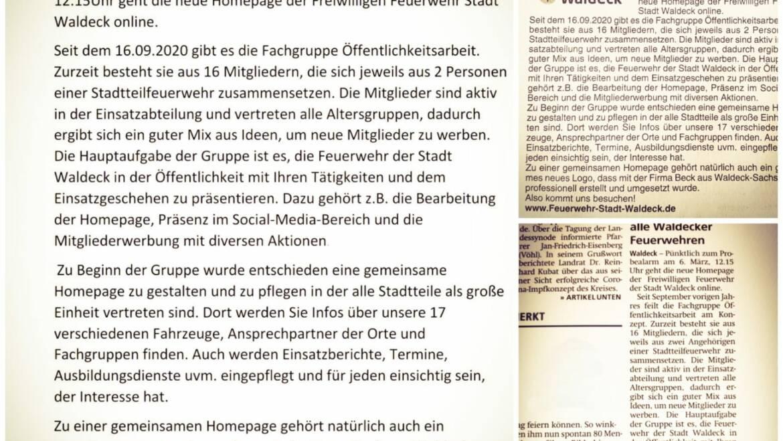 Neue Homepage – Neue Einheit