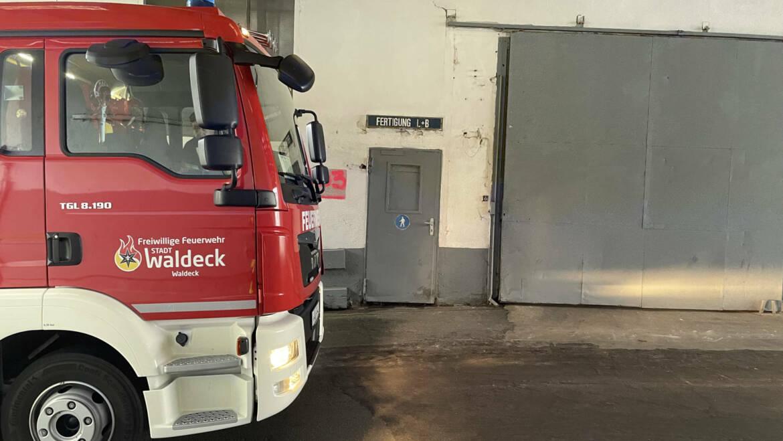 Auslösung Brandmeldeanlage ehm. Mauserwerk Waldeck
