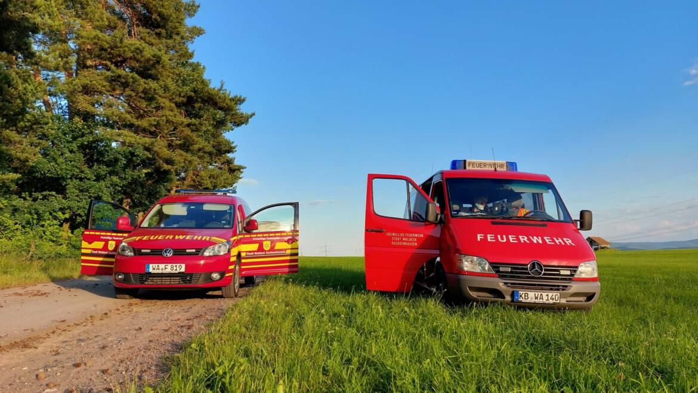 F WALD 2 Waldbrand Großschadenslage, Alarmübung Führungsteam