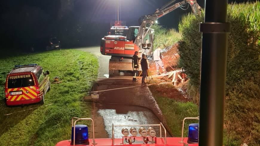 Amtshilfe – Ausleuchten bei Wasserrohrbruch Verbundleitung
